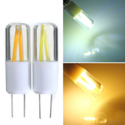 G4 1,5W COB Filament LED Punkt Glühlampe Lampen warmes / reines Weiß AC / DC 12V