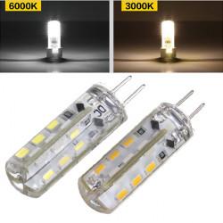 G4 1.5W Ren / Varmvit 3014SMD LED Silikon Lampa 110-220V