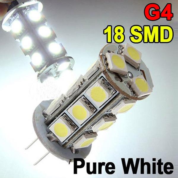 G4 18 SMD 5050 LED 250LM Weiß Helligkeit Chip Auto Birnen LED Lampen