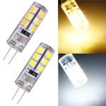 G4 1W 220V 24 SMD 2835 Vit / Varmvit LED Corn Light Bulb LED-lampor