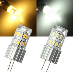 G4 2W Warm White/White 24 SMD 3014 LED Corn Light Bulb 12V