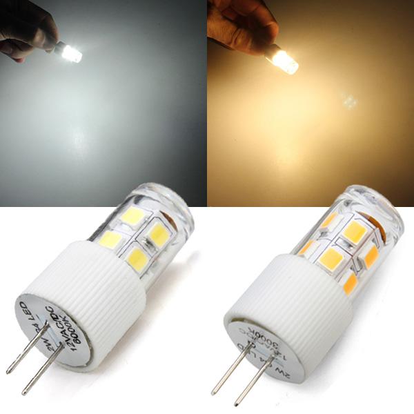 G4 2W warmes Weiß / Weiß SMD 2835 LED Mais Glühlampe AC / DC 12V LED Lampen