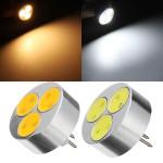 G4 3W wärmen weißes / reines Weiß 3 COB LED Licht Lampen Birne DC 12V LED Lampen