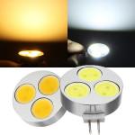 G4 3W weißes / warmes Weiß 3 COB Kronleuchter LED Glühlampe DC 12V LED Lampen