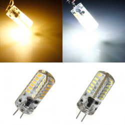 G4 3W Vit / Varmvit 48 SMD 3014 12V LED Corn Light Bulb