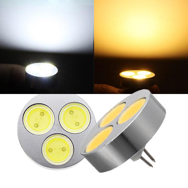 G4 4.5W Weiß / Warmweiß 3 COB LED Licht Lampen Birne DC 12V LED Lampen