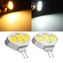 G4 4.5W Vit / Varmvit 3 COB LED-ljus Lampa DC 12V