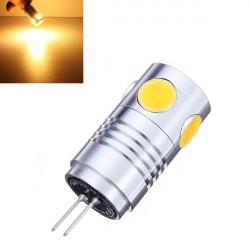 G4 5W Warm White 5 COB LED Punkt Glühlampe AC / DC 12V