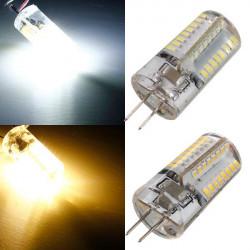 G4 LED Birne 3W 64 SMD 3014 warmes Weiß / Weiß Wechselstrom 85 265V Mais Licht