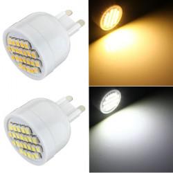 G9 1.5W nicht dimmbaren 24 SMD 3528 LED Mais Punkt Licht Lampen Birne 85 265V