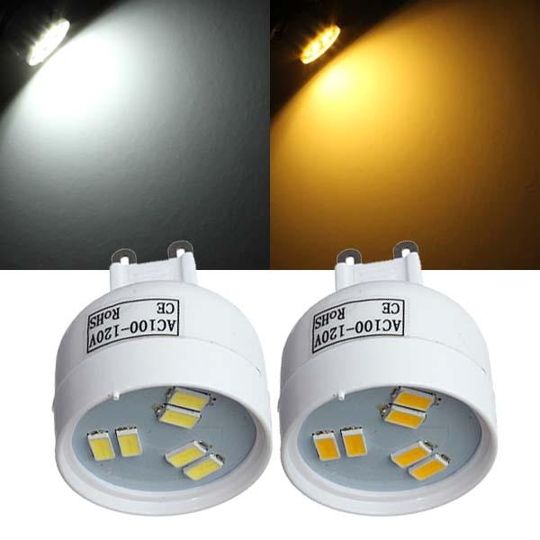 G9 2W LED Birnen 6 SMD 5630 AC 110 V Weiß / Warm White Spot Licht LED Lampen