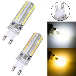 G9 3.5W 220V 104 SMD 3014 Vit / Varmvit LED Silicon Crystal Lampa