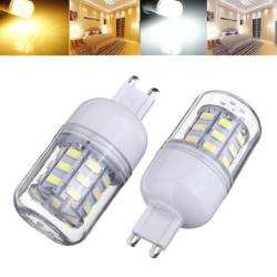 G9 3.5W 420LM AC 220V 30 SMD 5730 LED Corn Light Bulbs Clear Cover