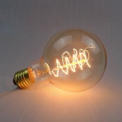 G95 E27 40W 220V Wrap Wire Glödlampa Retro Edison Lampa