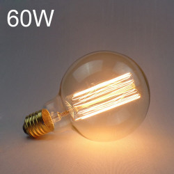 G95 E27 60W 220V Incandescent Bulb Retro Edison Light Bulb