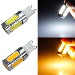 G9 7W COB White/Warm White Aluminum LED Corn Light Bulbs 220V