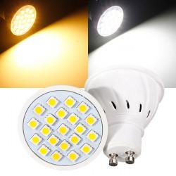 GU10 3W 220V 21 SMD 5050 Vit / Varmvit LED Spotlight