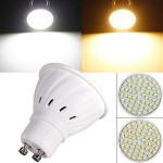 GU10 3W 220V 60 SMD 3528 weiße / warme weiße LED Punkt Glühlampe LED Lampen