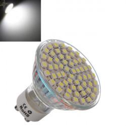 GU10 4.5W Vit 60 SMD 3528 LED Spotlight Lampa AC 220V