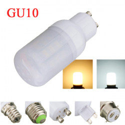 GU10 4W White/Warm White 5730SMD LED Corn Bulb Light Ivory Cover 220V