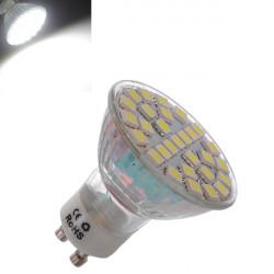 GU10 5W 29 SMD 5050 Vita LED Spotlight Lampa AC 220V