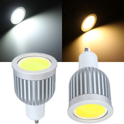 GU10 5W 600LM Dimbar Varmvit / Vit COB LED Spotlight Lampor 110V