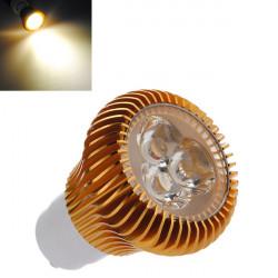 GU10 6W 3 LED Warm White LED Spot Light Bulb AC 110-240V