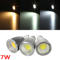 GU10 7W 700-750LM Dimmable COB LED Spot Lamp Light Bulbs AC 220V