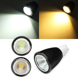 GU10 7W weiße / warme weiße COB LED Punkt Glühlampe AC85 265V