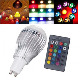 GU10 9W RGB AC 85-265V LED Magic Light Bulb Lamp With IR Remote