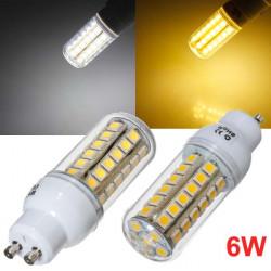 GU10 LED-lampa 6W 48 SMD 5050 AC 220V Vit / Varmvit