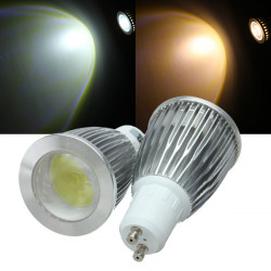 GU10 LED Bulbs 7W COB AC 85-265V Warm White/White Spot Light