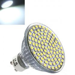 GU10 LED Spotlight Lampa 5W Pure Vit 3528 SMD Lampa AC 220V