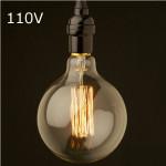 Glühlampe E27 40W AC 110V G80 Wolframfaden Edison Birne LED Lampen
