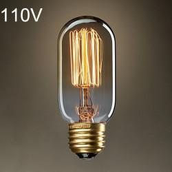 Glühlampe E27 40W AC 110 V T45 Wolframfaden Edison Birne