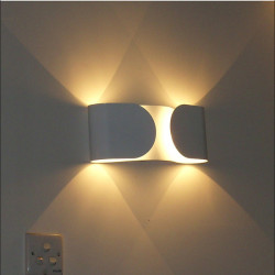 Italy Design Modern Fixture Creative White Bowknot Wall Lamp