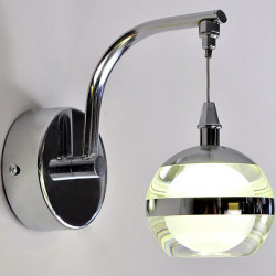 LED Single Head Apple Form Acryl Wandleuchte für Innen Hotel Schlafzimmer