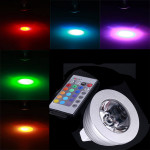 MR16 3W RGB mehrfarbigen IR Fernbedienung Glühbirne (12V) LED Lampen