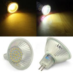 MR16 3W SMD2835 warmes weißes / weißes LED Punkt Glühlampe AC220V