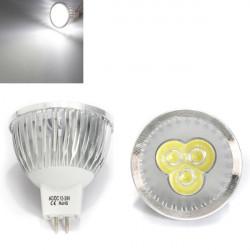 MR16 3W Vit 3 LED Spotlight LED-lampa 12-24V