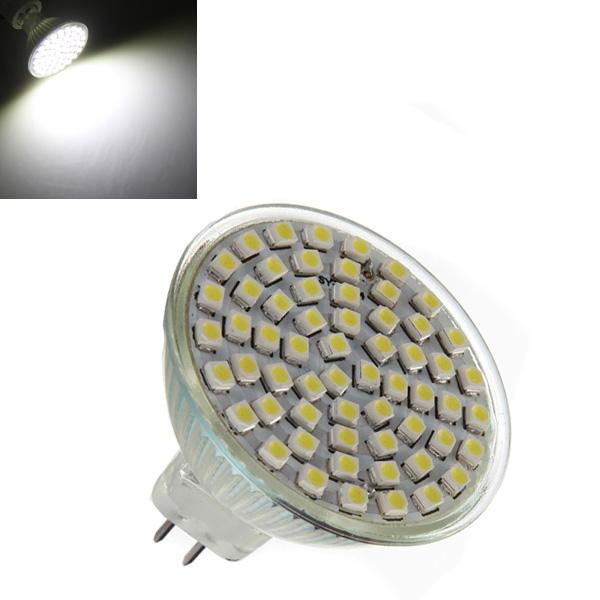 MR16 4.2W White 60 SMD 3528 LED Spot Light Lamp Bulb 220V LED Light Bulbs