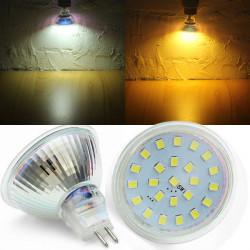MR16 5W SMD2835 warmes weißes / weißes LED Punkt Glühlampe 220V AC