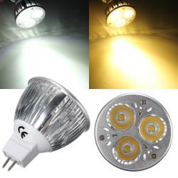 MR16 6W White/Warm White 3 LED Spotlight LED Light Bulb DC 12V