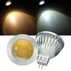 MR16 COB LED 3W DC/AC 12V Warm White/White LED Spot Light Bulbs