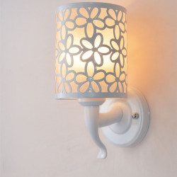 Minimalist Flower Carving Wall Lamp For Indoor Lighting