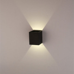 Moderne 3W Sort LED Square Væglampe Surface Installer Lysarmatur