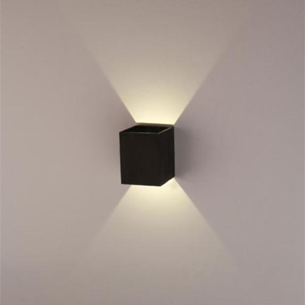 Moderne 3W Schwarzes LED Platz Wandleuchte Oberflächen Installieren Licht Leuchte Wandleuchten / Wandlichter