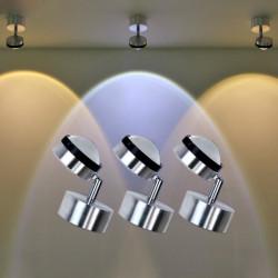 Modern 3W Rotatable LED Wall Light Background Crystal Spot Light