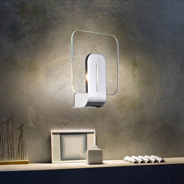 Modern Brief Glass LED Wall Light Living Room Bedside Lighting Wall Lights