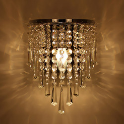 Modern Crystal Chandelier Wall Light Lighting Fixture 220V